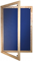 Wooden_Tamperproof_Lockable_Noticeboards_Blue