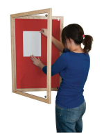 Wooden_Tamperproof_Lockable_Noticeboards_Red
